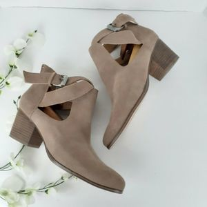 Sole Society Azure Taupe Ankle Boot Booties 9.5